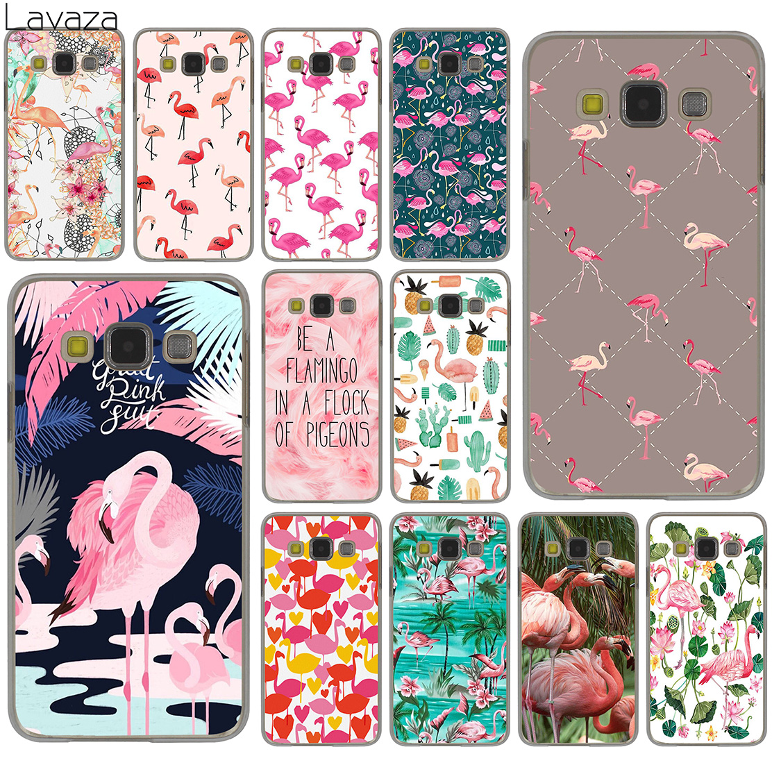 Pink Flamingo Themed Pool Party Hard Case Cover for Samsung Galaxy S8 Plus S3 S4 S5 & Mini S7 Edge S6 Edge Plus