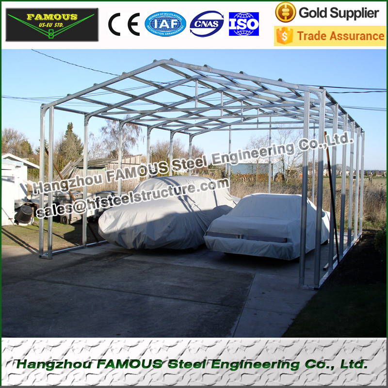 Various Usage Prefab Steel Structure Garages And Sheds