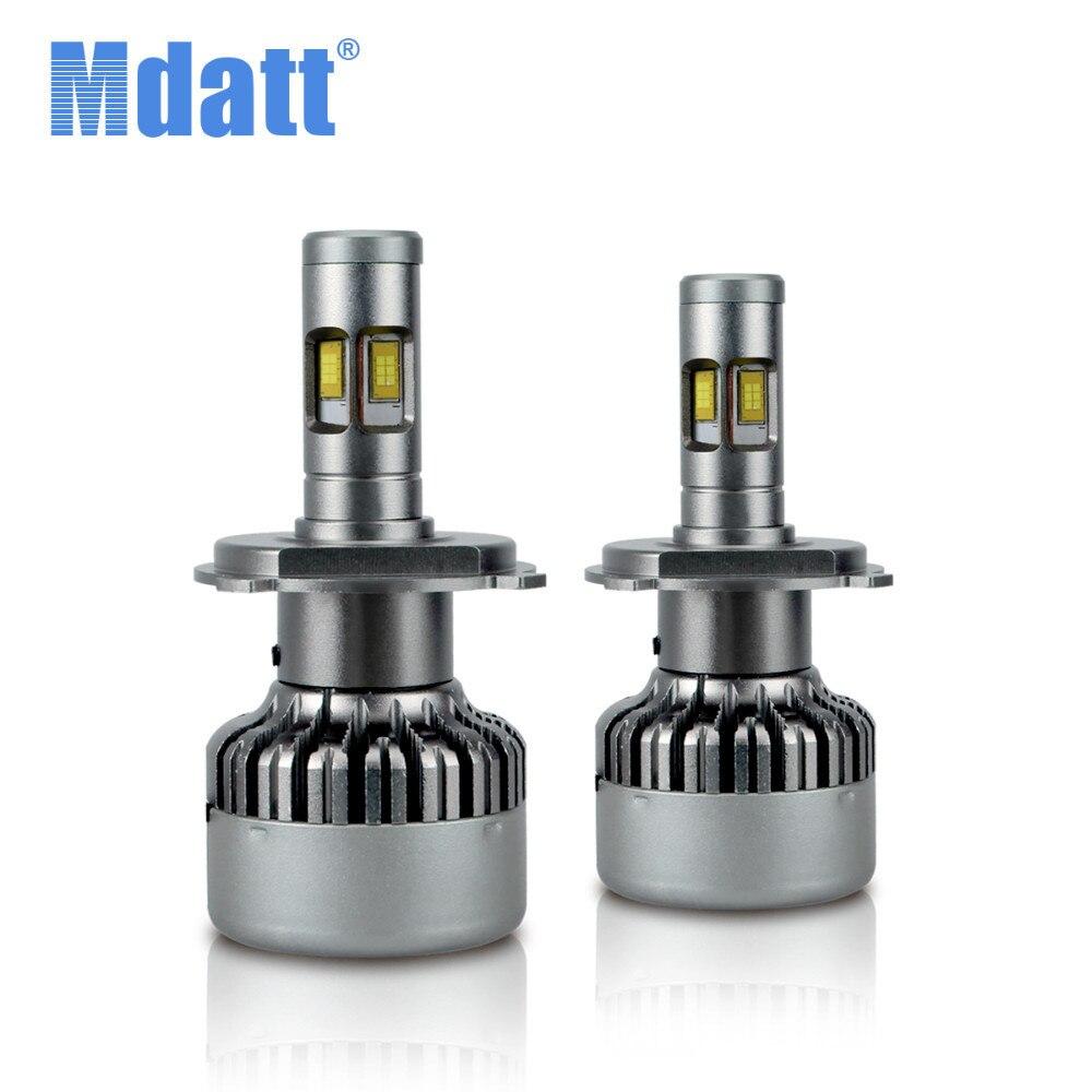 цена на Mdatt 4 Side Bulbs Car Light 360 Degree Auto Led H4 H1 H7 H11 Lamp 100W 14000LM Car Headlight Bulb CSC Lighting 12V 24V 6500K