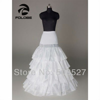 Hot Sale In Stock White Bridal Accessories Four Hoops Wedding Dress Tiered Tulle Petticoat/Crinoline/Underskirt