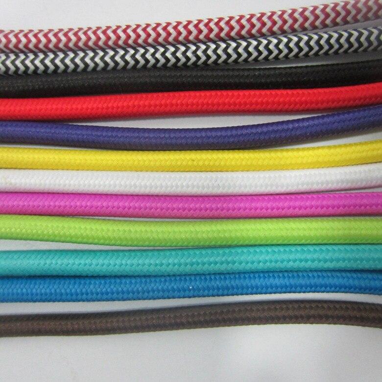 100m DHL/Fedex/UPS Free Shipping 2x0.75mm2 Zig Zag Fabric Wire ...