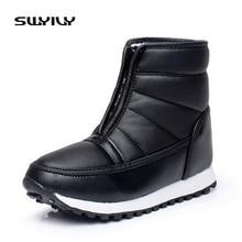 Плюс Размеры Женские зимние ботинки Теплый плюш Водонепроницаемый женские ботильоны для отдыха зимняя обувь Толщина для пожилых людей студентов