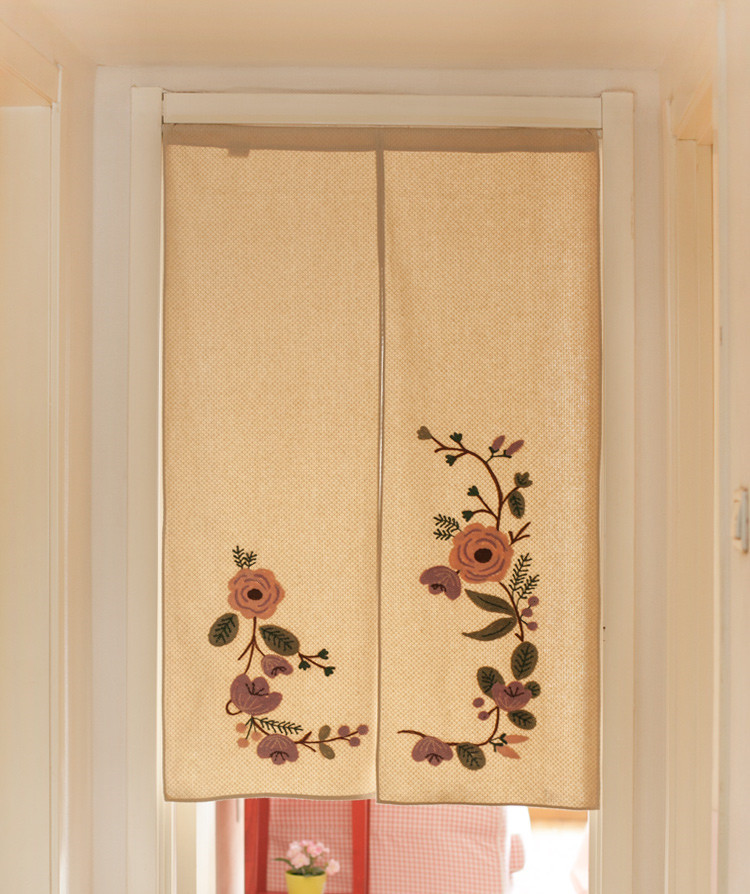 Delicieux Japan Style Cotton Door Curtains Handmade Emroidery Beautiful Flowers Closet  Covers Home Decorative Room Divider/Partition In Curtains From Home U0026  Garden On ...