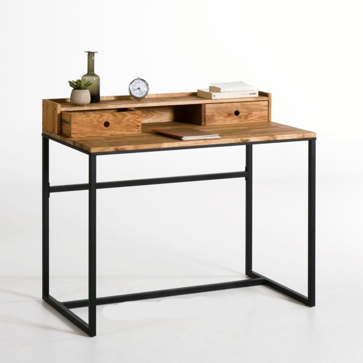 LOFT French Country Style Iron Wood Coffee Table, Console Table Desk French  Student Work Tables In Computer Desks From Furniture On Aliexpress.com |  Alibaba ...