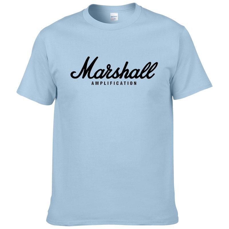 100% cotton Marshall T Shirt men short sleeves tee hip hop street wear for fans hipster 23