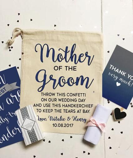 personalized mother of the groom or bride wedding hangover favor gift present keepsake bags bridal shower