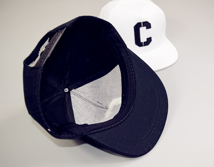 Ricamo C Snapbacks Cappelli Lettera Cappellini da Baseball Nero ... 576d7ac487ef