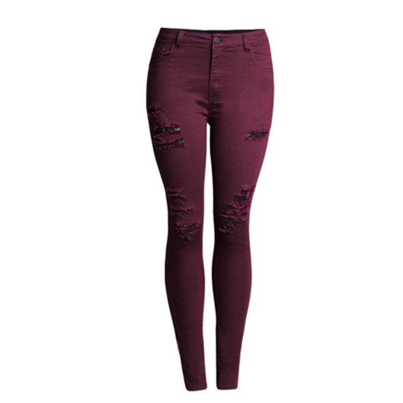 Popular Red Wine Denim Jeans Pants-Buy Cheap Red Wine Denim Jeans ...
