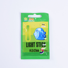 5Pcs/25pcs/50pcs Fluorescent Lightstick Fishing float dark glow stick night Float Rod Light 37mm*4.5mm fishing tackle Visual 30m