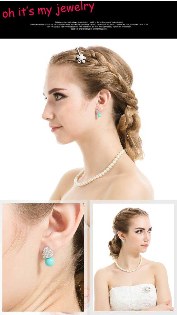 white gold earrings