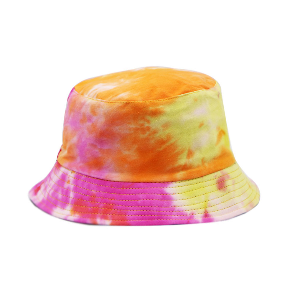 Daily Walking Summer Tie-Dye Casual Cotton Clan Characteristics Shade Colorful Cap Lightweight Space Saving Fisherman Hat