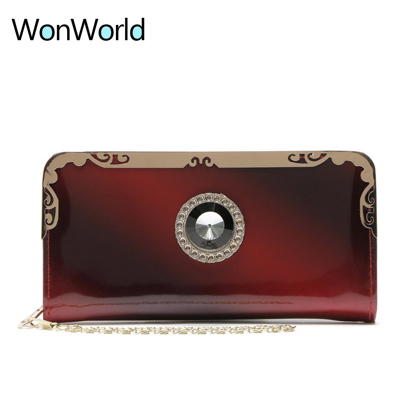 Luxury women wallets famous designer brand ladies long zipper wallets purses cash coin pocket card cellphone Clutch Chain wallet