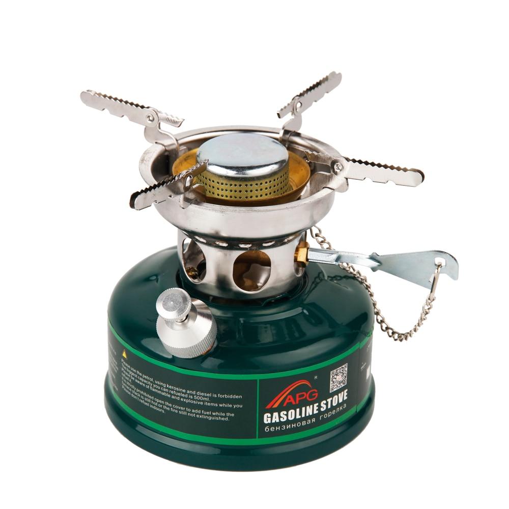 Kemping Benzin tűzhely Nem előmelegítő Nincs zajolaj kemence piknik égők Benzin kályha edények