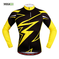 WOSAWE Quick Dry Long Sleeve Jersey Cycling Summer Spring MTB Bicycle Tops Cycling Clothings Men S