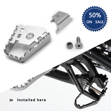 Sliver Rear Foot Brake Lever Pedal Enlarge Extension Peg Pad Extender for BMW R1200GS F800GS F700GS F650GS R1150GS
