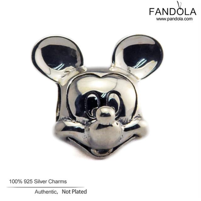 Diy contas para fazer jóias 925 esterlina-prata-jóias mickey silver charm fine jewelry fit encantos pulseira fandola ckk