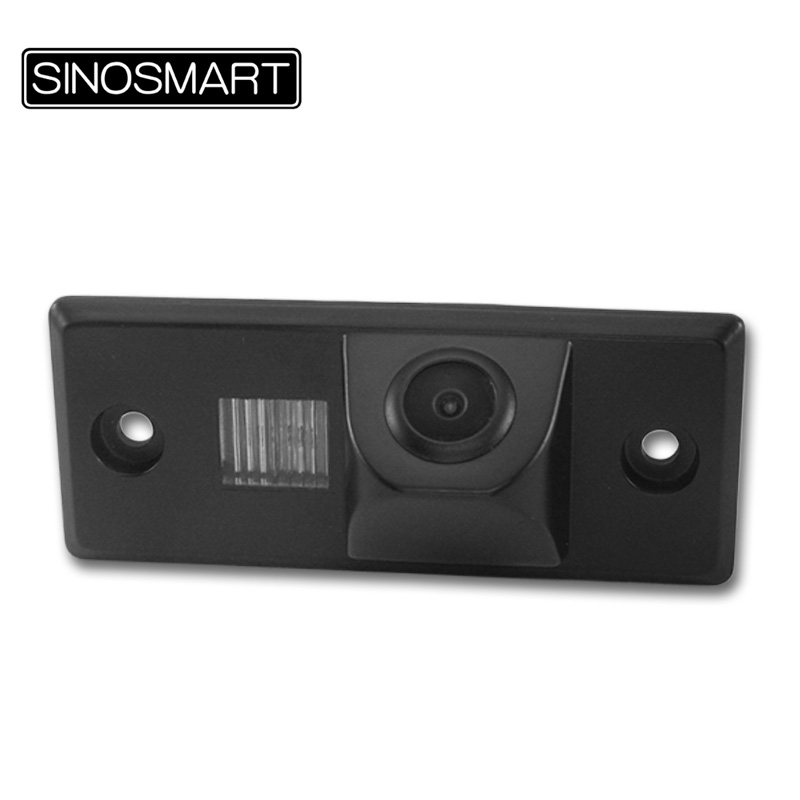 SINOSMART Parking-Reverse-Camera Rearview License-Plate Porsche Cayenne Car For Lamp-Hole