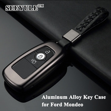 hot deal buy 1pc seeyule aluminum alloy car styling deluxe car key case shell remote key cover protector storage bag for ford mondeo