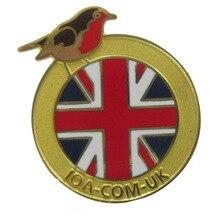 Customized Flag Badge Trendy Fashion Plating Painted
