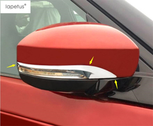ABS ! Accessories For Land Rover Discovery 5 Sd4 2017 Side Rearview Mirror Strip Frame Molding Cover Kit Cap Trim 2 Piece / Set