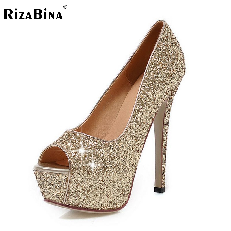 цена на women peep open toe high heel shoes platform party sexy lady quality footwear fashion heeled pumps heels shoes size 32-43 P18133