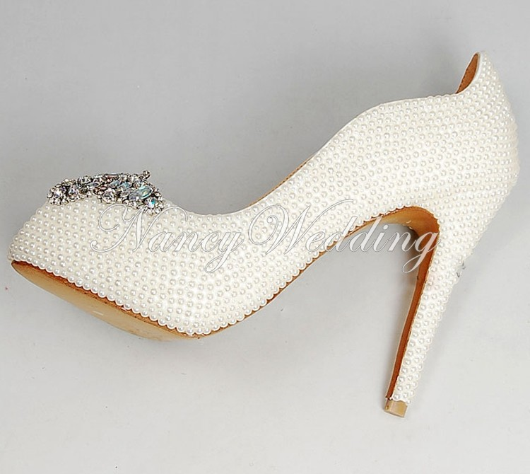 Peep Toe Ivory Shoes 009