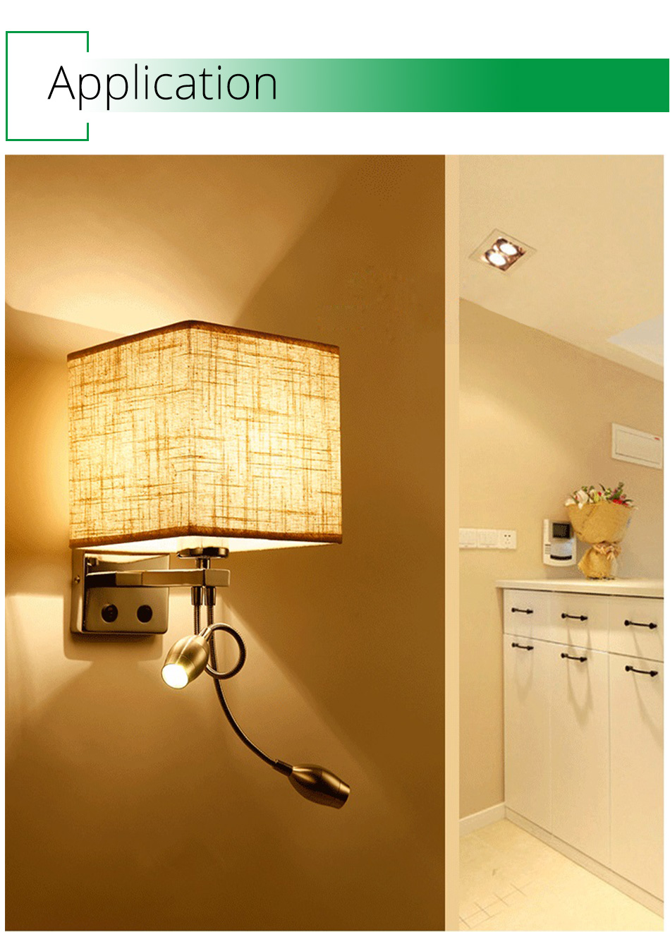 Wall Lamp Sconce Switch Stairs Light Luminaires Fixture E27 Bulb Bedroom Decor Bathroom Modern Bedside Lighting Wall Mounted (16)