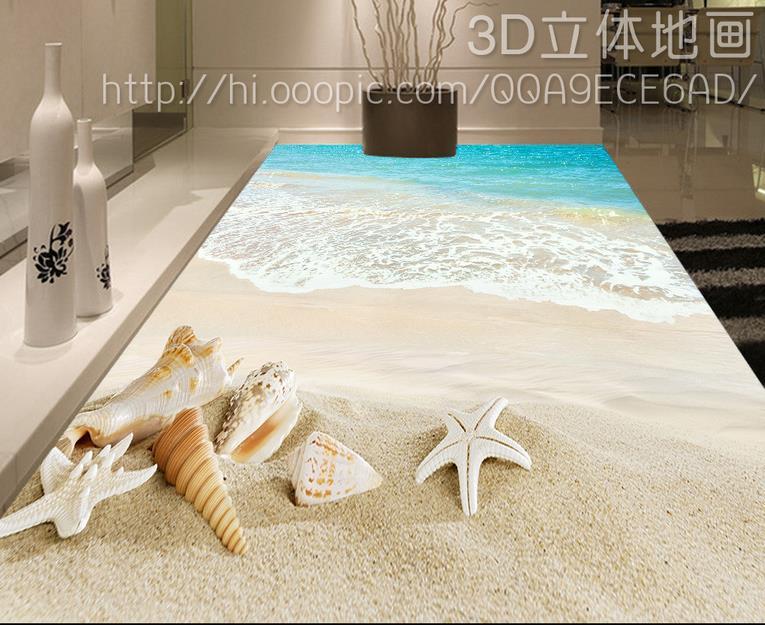 Pavimento di piastrelle in vinile personalizzato conchiglie e