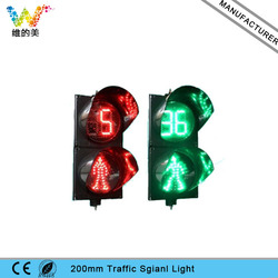 Red Standing Green Walking Man 200mm LED Pedestiran Traffic Light with Countdown Timer