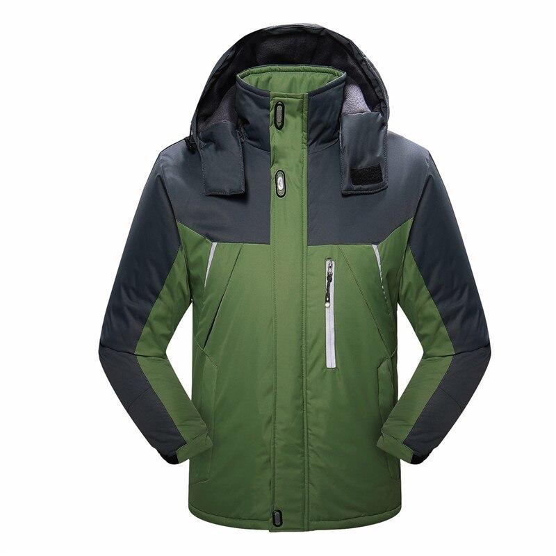 Sj-maurie Ski costume hommes coupe-vent Ski vestes hiver chaud en plein air Sport randonnée Ski snowboard mâle escalade manteaux M-6XL - 6