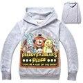 Cinco Noites No Freddy T-shirt Meninos Roupas Dos Desenhos Animados Manga Comprida Hoodies Crianças Esporte Fnaf Roupas Crianças Tshirt Kikikids DC1045