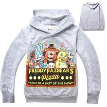 Five Nights At Freddy T-shirt Boys Clothes Long Sleeve Cartoon Hoodies Kids Sport Fnaf Children Clothing Kikikids Tshirt DC1045