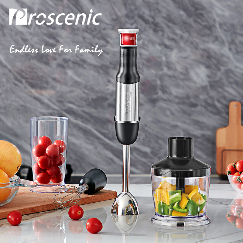Proscenic Hand Blender Portable Electric Stick Mixer Smart Speed Food Processor Set BPA free Handheld Stick