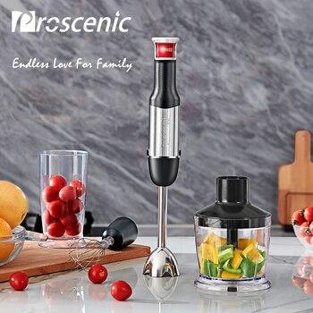 Proscenic Hand Blender Portable Electric Stick Mixer Smart Speed Food Processor Set BPA free Handheld Stick Blender Mixer 800W