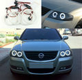 For NISSAN ALMERA CLASSIC N16 B10 2006-2009 Excellent Angel Eyes Ultra bright illumination smd led Angel Eyes Halo Ring kit