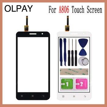 da24951007 OLPAY 5,0 ''para Lenovo A806 A806T A808 A8 pantalla táctil capacitiva Panel  del digitizador del tacto herramientas adhesivo libre y toallitas