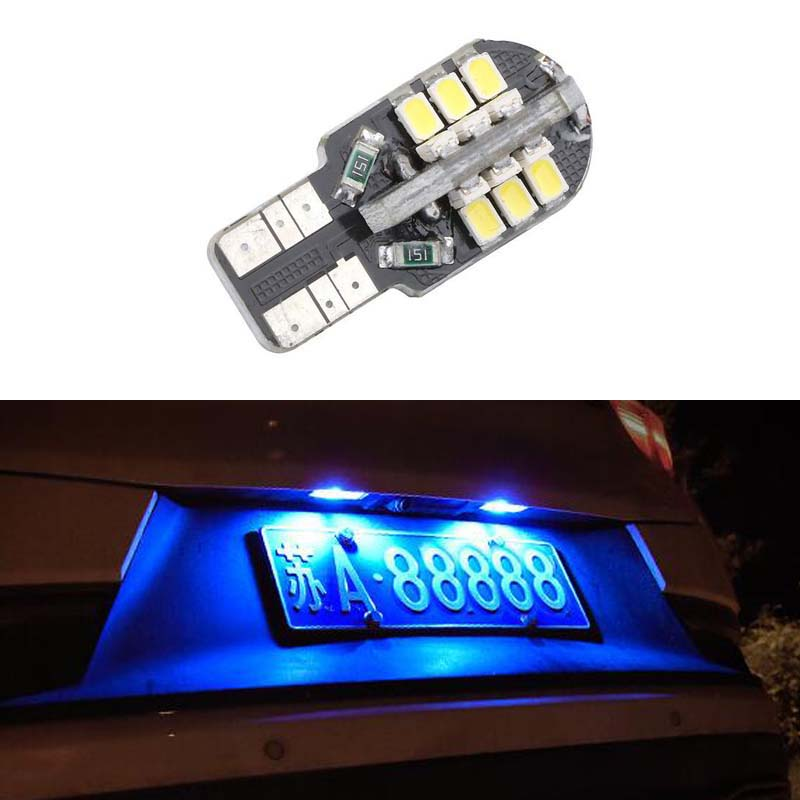 1X super bright License plate Light No Error T10 3020SMD <font><b>LED</b></font> For <font><b>Peugeot</b></font> 206 207 306 307 406 <font><b>407</b></font> 308 5008 image