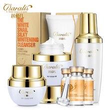 2017 Snails liquid set whitening cream cleansing cream moisturizing repair set Acne Treatment Black Head Ageless