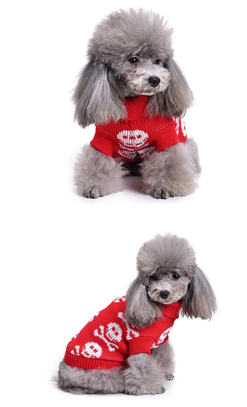 Otoño/Invierno ropa Halloween perro suéteres cráneo patrón perro de ...