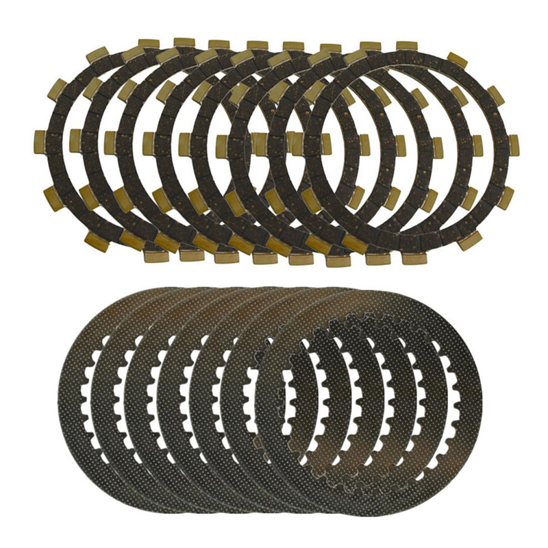 A set Motorcycle Engine Parts Clutch Friction Plates Kit & Steel Plates For YAMAHA YZ125 YZ 125 1996-2004 zoomer ruckus fi nps50 engine frame extend extension kit cables black motorcycle parts