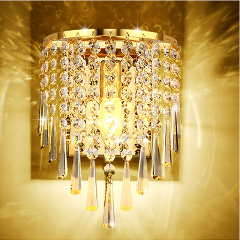 Simple modern crystal wall lamp bedroom, bedside LED wall lamp living room sofa background wall lamp Villa Hotel staircase light уличный светильник globo style 3207