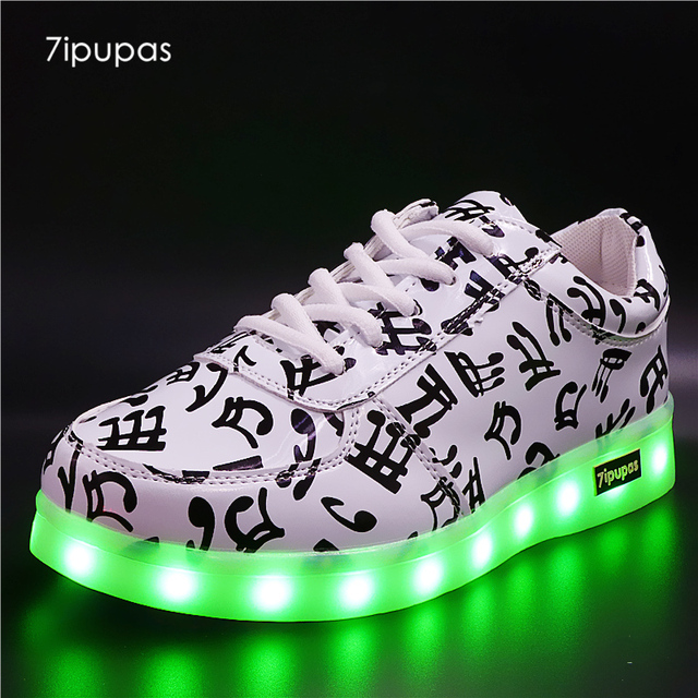7ipupas New Basket Light Up sneakers kids boys girls shoes Led Schoenen  Music Homme Luminous sneakers male Chaussures Lumineuse 7fce49a7db76