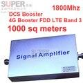 Banda 3 FDD LTE 4G impulsionador + DCS repetidor ganho 55dbi LCD função de exibição 1800 Mhz impulsionador do sinal do telefone móvel FDD LTE repetidor 4G