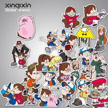 39Pcs / lot Rolig Anime Gravity Falls Klistermärke Bil Laptop Bagage Skateboard Motorcykel Dekal Kids Toy Sticker