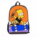 Bolso de Las Mujeres de dibujos animados Nuevos 2015 Los Simpsons Medio Los Simpsons Bolso de escuela de los Estudiantes niños y niñas de La Familia Simpsons bolsas