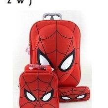 19098ed9e Mochila escolar de equipaje rodante bolso de viaje maleta spiderman para  fans de hero