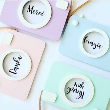 Lovely Cute Wood Camera Toys Children Bed Room Wall Decoration Toys Kids Birthday Christmas Gift Nordic