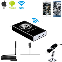 Wireless Wifi Box Microscope Adapter Accessories for iPhone iPad Android Phone Tablet Converter for USB Digital Endoscope