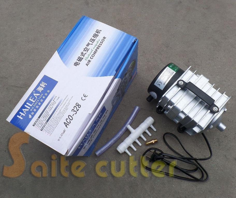 Hailea Electromagnetic Air Compressor Pump Aquarium Fish Laser Engraver 60W new resun aco 008 high quality 120w 0 110m3 min aquarium fish tank pond electromagnetic air compressor pump new