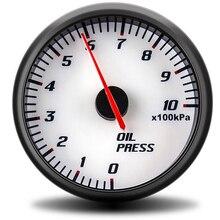 60 мм Универсальный цифровой датчик давления масла для Ford Mustang автомобильный счетчик с синим светом гоночный Авто измеритель давления масла сенсор